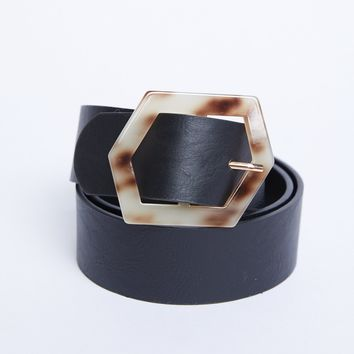 Hexagon Buckle Belt