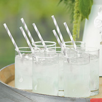 Striped Paper Straws - Package of 75