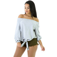 2017 Trending Fashion Women Sexy Loose Off Shoulder Quarter Sleeve Boat Neckline Erotic T-Shirt _ 12333