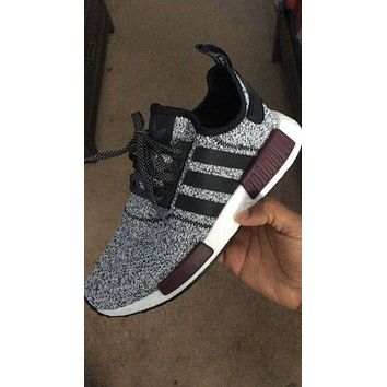 Adidas NMD Trending Running Sports Shoes Sneakers Grey Black Line