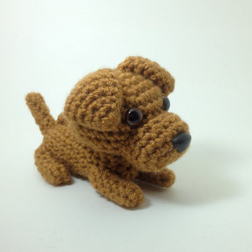 Rhodesian Ridgeback Amigurumi Dog Crochet Puppy Stuffed Animal Plush Doll  / Made to Order
