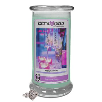 Happy Anniversary Jewelry Greeting Candles