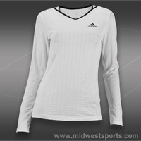 adidas womens long sleeve tee, Adidas Tennis Essentials Long Sleeve Tee G78582 M