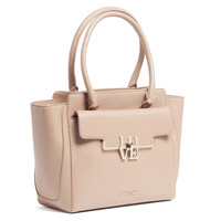 Moschino Taupe Satchel/Shoulder Bag