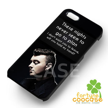 Sam Smith Lyric - ziiia for  iPhone 4/4S/5/5S/5C/6/6+,Samsung S3/S4/S5/S6 Regular/S6 Edge,Samsung Note 3/4