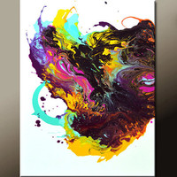 Abstract Art Painting 18x24 Contemporary Canvas Art Paintings by Destiny Womack - dWo - Nebula