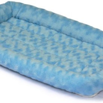 Fashion Pet Bed Blue Machine Washable Soft Designer Great for 24 Inch Crates & Carriers