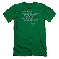 BACK TO THE FUTURE/MAKE LIKE A TREE - S/S ADULT 30/1 - KELLY GREEN -