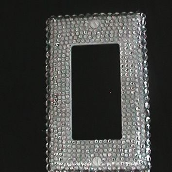 Bling Rhinestone embellished Switch Plate Cover Free Shipping