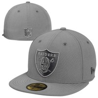 New Era Oakland Raiders Pop Classic 59FIFTY Fitted Hat - Gray