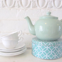 Vintage Teapots. English ceramics. Buttercup Yellow or Mint Blue. Large size. Choose one.