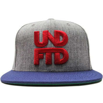 Undefeated - Stacked Snapback Cap (Grey Heather)
