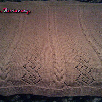 Cable Knit Diamond Pattern Afghan