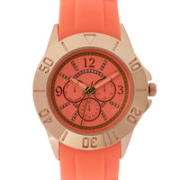 ASOS Rose Gold Silicone Watch at asos.com