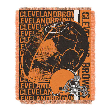 Cleveland Browns NFL Triple Woven Jacquard Throw (Double Play) (48x60)