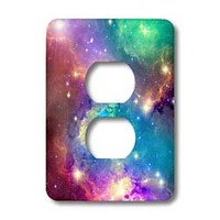3dRose LLC lsp_112155_6 Colorful Galaxy 2 Plug Outlet Cover