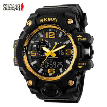 ONETOW Skmei Outdoor Multifunctional Dual Display Sports Men Digital Watch Tactical Waterproof Double Movement Noctilucent Wrist Watch