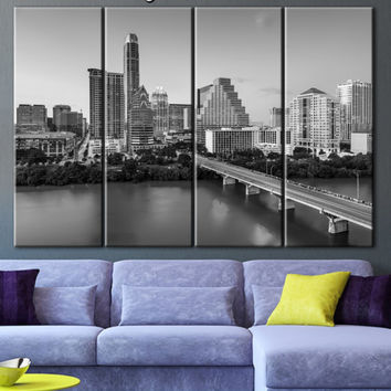 Austin Texas canvas, Art large canvas, Art canvas print, Wall decor panels, Wall art canvas, Wall art decor ideas, Wall decoration, Painting