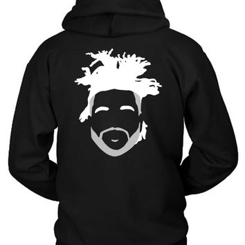 The Weeknd Stencil Hairstyle Hoodie Two Sided
