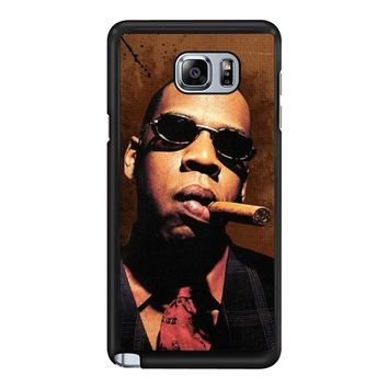 Jay-Z Cigar Glasses Tie Vest 01  Samsung Galaxy Note 5 Case