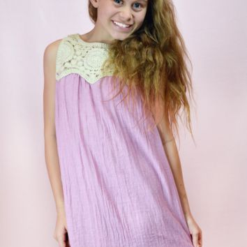 lil belle crochet dream dress - bubblegum