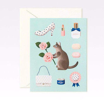 Mint Cat Just Because Card