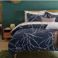 Brief Europe Tree Branches Pattern Luxury Style High Quality Modern Bedding Sets Duvet Cover Set Queen/King Size