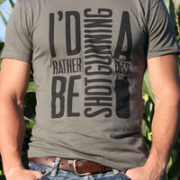 I'd Rather Be Shotgunning a Beer Men's T Shirt | Drinking Inspired Apparel