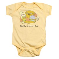 Adventure Time - Worlds Greatest Dad Infant Snapsuit Officially Licensed Baby Clothing