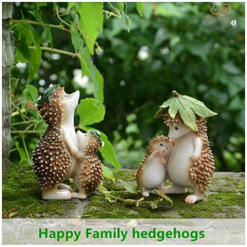 Everyday Collection Resin family hedgehog fairy garden decorations & home decoration accessories & party decoration