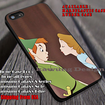 Wendy Try To Kiss Peterpan, Wendys, Peterpan, Disney Princess, case/cover for iPhone 4/4s/5/5c/6/6+/6s/6s+ Samsung Galaxy S4/S5/S6/Edge/Edge+ NOTE 3/4/5 #cartoon #animated #disney #peterpan ii
