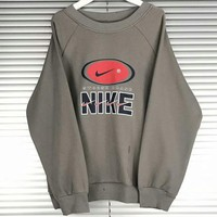 NIKE 2018 new trend retro couple models sweater F-AG-CLWM Grey