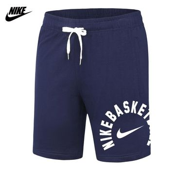 NIKE 2018 new sports beach pants men's knitted casual shorts Blue