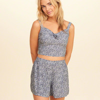 Girls Tie-Front Woven Crop Top | Girls Dresses & Rompers | HollisterCo.com
