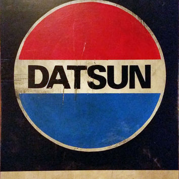 Datsun Car Sign Hand-painted Mechanic Sign, Do It In a Datsun Garage Sign
