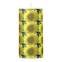 Repeating Sunflowers Pillar Candle