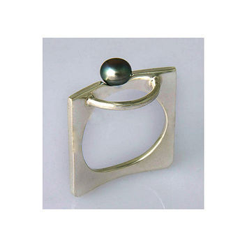 pearl ring silver size 4 5 6 7 8 9 10 11 12 13 14 by aboutjewelry