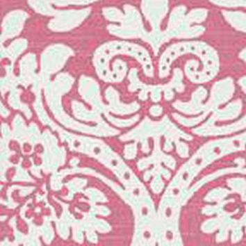 Bloomin Damask in Pink Designer Fabric by the Yard | 100% Cotton