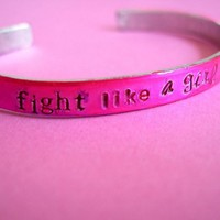 Fight Like a Girl Bracelet | Spiffing Jewelry