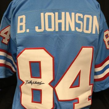 Billy 'White Shoes' Johnson Signed Autographed Houston Oilers Football Jersey (JSA COA)