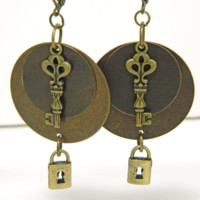 Fun and Playful Lock and Key Earrings