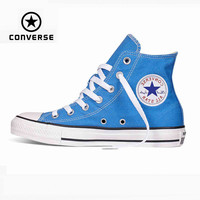 TRENDY TOP QUALITY Original Converse all star shoes Sky blue high unisex sneakers canvas shoes for unisex High Skateboarding Shoes - TMACHE