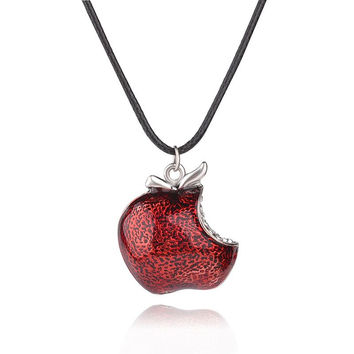 Once Upon a Time Regina Mills Red Apple Crystal Pendants & Necklace