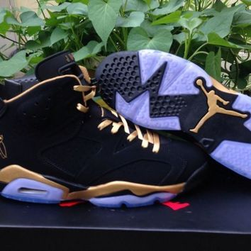 qiyif AIR JORDAN 6 (BLACK - OVO - DRAKE)