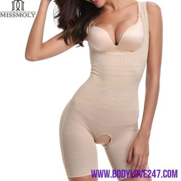 Slimming Post Surgery Full Body  Slip Suit Powernet Women's Shapewear Bodysuit