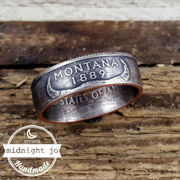 Montana State Quarter Coin Ring