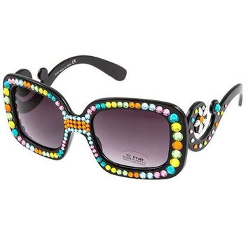 Stella Swarovski Spring Mix Crystal Embellished Sunglasses