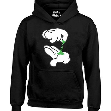 Cartoon Hands Pinching Weed Marijuana Smoker Unisex Hoodie