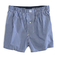 Gingham Boxer in Dark Knight by Southern Tide