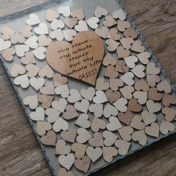 Guestbook Alternative Drop Box with 100 hearts